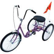 Tricycle industriel 250 Lb capacité monovitesse frein à rétropédalage violet
