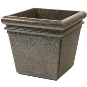 "Concrete Stone Tec Outdoor Planter, 19"" Square Aspen"