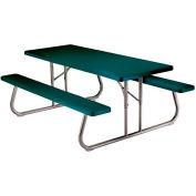 "Lifetime® Fold-Away Picnic Table 72"" X 30"" - Green - Pkg Qty 10"