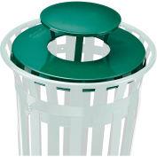 Global Industrial™ Steel Rain Bonnet Lid For 36 Gallon Trash Can, Green