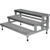"""ASP-48-3-SS Height Step Stand réglable, acier inoxydable 48""""W x 36""""L"""