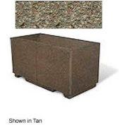 "Concrete Outdoor Planter w/Forklift Knockouts, 48""Lx24""Wx24""H Rectangle Gray Limestone"