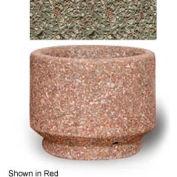 """Small Concrete Outdoor Planter, 19""""Dia. x 15""""H Round Gray Limestone"""