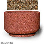 "Small Concrete Outdoor Planter, 26""Dia. x 17""H Round Tan River Rock"