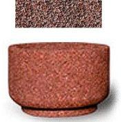 "Small Concrete Outdoor Planter, 26""Dia. x 17""H Round Red Quartzite"