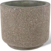 "Concrete Outdoor Planter 36""Dia x 30""H Round Gray limestone"
