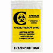 """Reclosable Chemotherapy Drug Transport Bags, 4 mil, 12"""" x 15"""", Clear, Case of 500"""