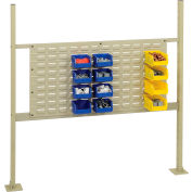 """Risers With 48"""" Workbench Louver Panel Tan"""