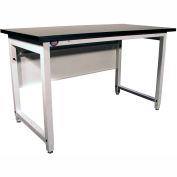 "Pro-Line Industrial Workbench W/ Fixed Leg & Phenolic Resin Square Edge, 60""W x 30""D x 32""H, White"