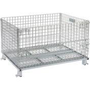 Folding Wire Container GC404824S4 48x40x30-1/2 3000-4000 Lb. Cap