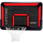 "Lifetime® 44"" Rectangular Impact Basketball Backboard with Classic Rim"