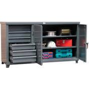 "StrongHold® Cabinet Workbench, Hidden Drawer Storage, 72""W x 36""D, Gray"