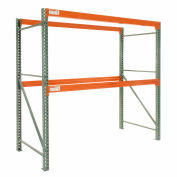 "Global Tear Drop Pallet Rack Starter 120""W x 42""D x 120""H"