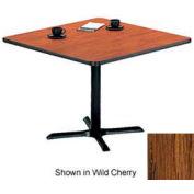 "Premier Hospitality Restaurant Table - Square - 24""W x 24""D x 29""H - Medium Oak"