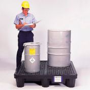 UltraTech Ultra-Spill® Economy Containment Pallet 1113 P4 4-Drum with Drain