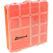 """Homak HA01088175  7 Adjustable Tall Plastic Compartment Storage Box, 8""""L x 8""""W x 1-3/4""""H - Pkg Qty 24"""
