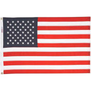 4 x 6' Nyl-Glo US Flag with Embroidered Stars & Lock Stitching
