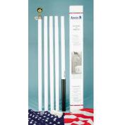 18' Steel Pole Set with 3 X 5' US Polycotton Flag