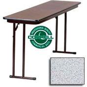 "Correll Folding Seminar Table - Laminate - 18""x 96"" - Gray Granite"