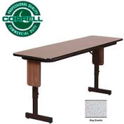 "Correll Folding Seminar Table - Adjustable Height - 18""x 60"" Gray Granite"