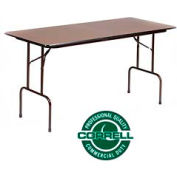 "Correll Folding Table - Counter Height - 5/8"" Laminate Top - 30"" x 72"" x 36""H - Walnut"