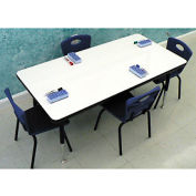 """Whiteboard Activity Table 24"""" x 60"""" Rectangle, Juvenile Adjustable Height"""