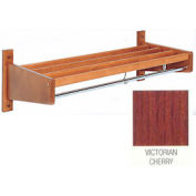 3' Width Stained Hardwood Wall Mounted Coat Rack, Victorian Cherry