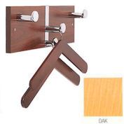 Executive Laminate Wall Costumer with Chrome Knobs & 2 Hangers, Oak