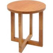 """Regency End Table - 21"""" Round - Medium Oak - Chloe Series"""