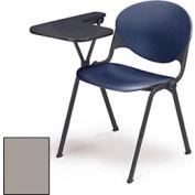 Design empilable bras chaise bureau w / droit remis Tablet - siège gris Cool & dos