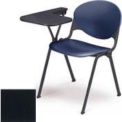 Design empilable bras chaise bureau w / gauche remis Tablet - siège à charbon & dos