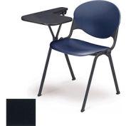 Design empilable bras chaise bureau w / droit remis Tablet - siège à charbon & dos