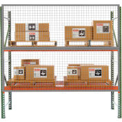 Husky Rack & Wire RGW1204, 12' x 4' Wire Mesh Pallet Rack Guard