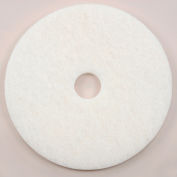 "20"" White Polishing Pad - 5 Per Case"