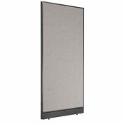 """Office Partition Panel with Raceway, 36-1/4""""W x 76""""H, Gray"""