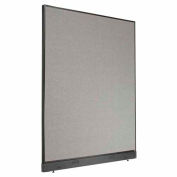 """Office Partition Panel with Raceway, 60-1/4""""W x 76""""H, Gray"""