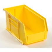 Global™ Plastic Storage Bin - Parts Storage Bin 5-1/2 x 10-7/8 x 5, Yellow - Pkg Qty 12