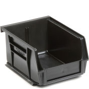 Global™ Plastic Stacking Bins - Parts Storage Bin 4-1/8 x 5-3/8 x 3, Black - Pkg Qty 24
