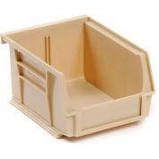 Global™ Stackable Storage Bin 4-1/8 x 5-3/8 x 3, Beige - Pkg Qty 24