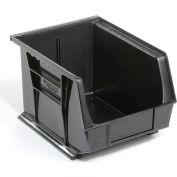 Global™ Plastic Stacking Bins - Parts Storage Bin 8-1/4 x 10-3/4 x 7, Black - Pkg Qty 6