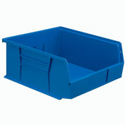 Global™ Hanging & Stacking Storage Bin 11 x 10-7/8 x 5, Blue - Pkg Qty 6