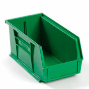 Global™ Plastic Stackable Bin 5-1/2 x 10-7/8 x 5, Green - Pkg Qty 12