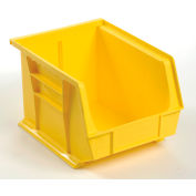 Global™ Plastic Storage Bin - Parts Storage Bin 8-1/4 x 10-3/4 x 7, Yellow - Pkg Qty 6