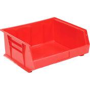 Global™ Plastic Storage Bin - Small Parts 16-1/2 x 14-3/4 x 7, Red - Pkg Qty 6