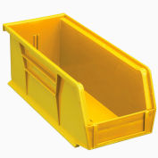 Global™ Plastic Storage Bin - Parts Storage Bin  4-1/8 x 10-7/8 x 4, Yellow - Pkg Qty 12
