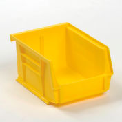 Global™ Plastic Storage Bin - Parts Storage Bin 4-1/8 x 4-1/2 x 3, Yellow - Pkg Qty 24