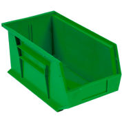 Global™ Plastic Stackable Bin 5-1/2 x 14-3/4 x 5, Green - Pkg Qty 12