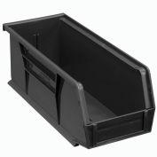Global™ Plastic Stacking Bins - Parts Storage Bin 4-1/8 x 10-7/8 x 4, Black - Pkg Qty 12