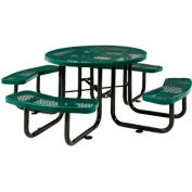 """46"""" Round Expanded Metal Picnic Table Green"""