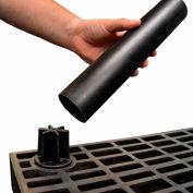 "Structural Plastic Shelf Leg 12"", Black"